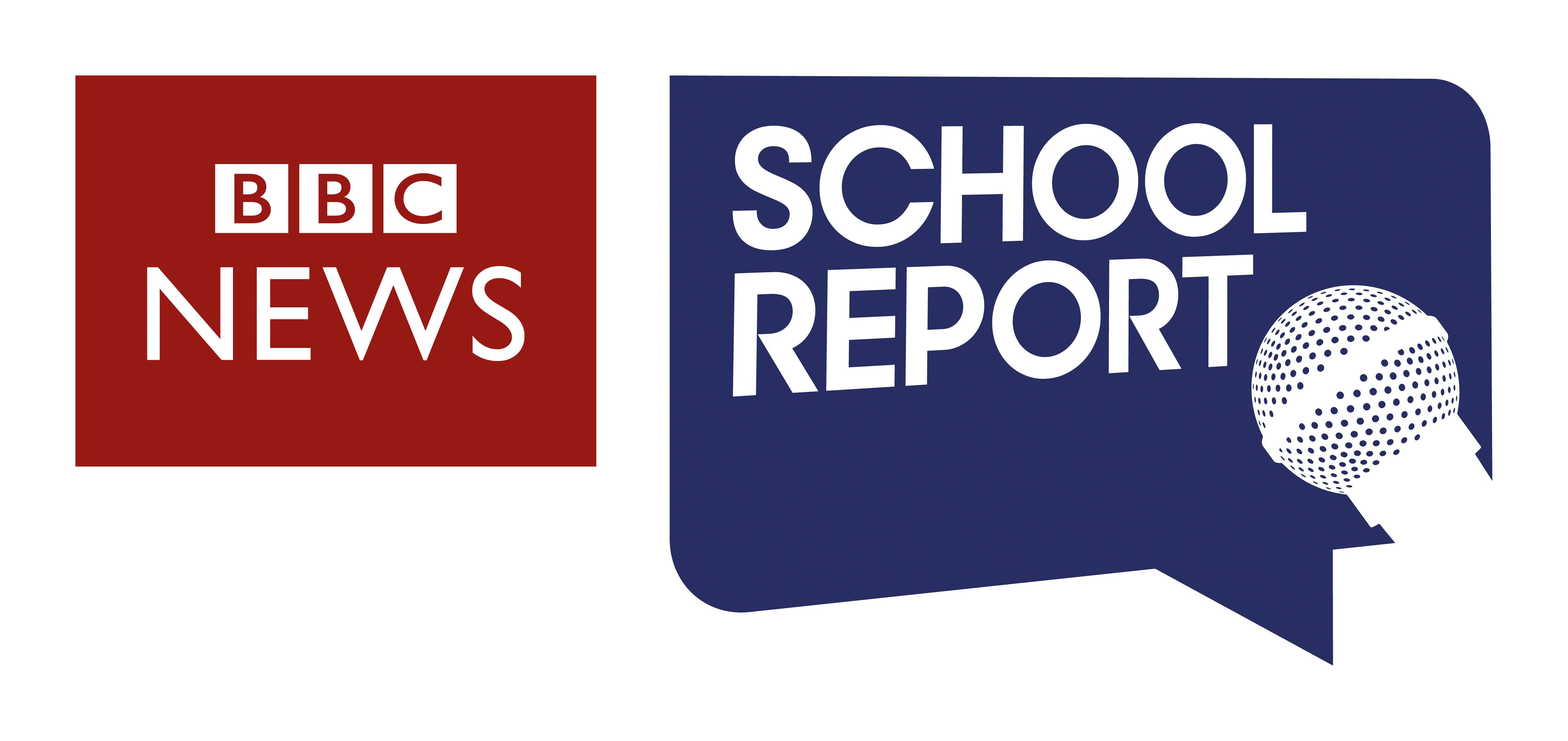 school report and bbc news block